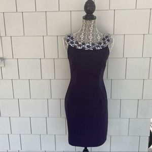 Connected purple sleeveless dress size 4p